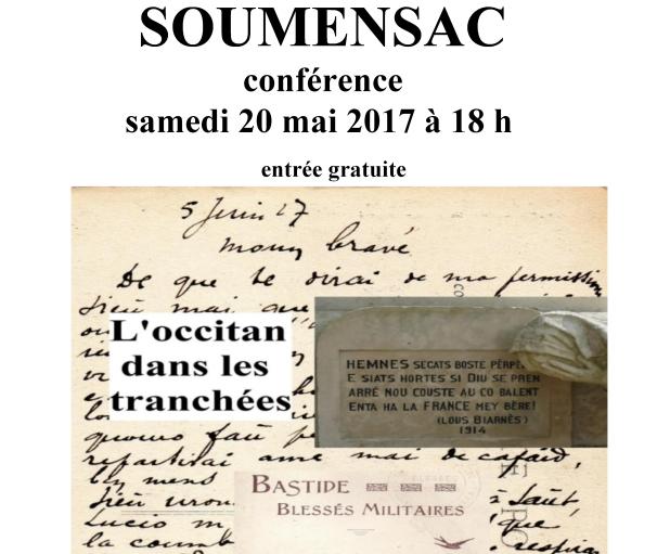 Conférence L'Occitan dans les tranchées