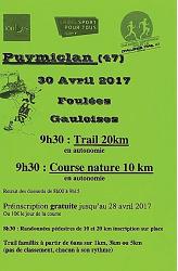 Foulées Gauloises -30 avril - Puymiclan